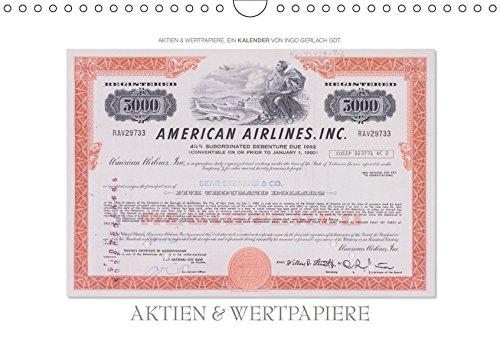 Aktien & Wertpapiere / CH-Version (Wandkalender 2019 DIN A4 quer): Wertvolle alte amerikanische Aktien wurden zu einem ansprechenden Kalender gestaltet. (Monatskalender, 14 Seiten ) (CALVENDO Wissen)