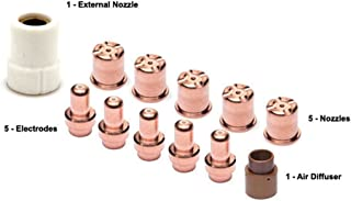 Plasma Electrode Tips Kit for Eastwood Versa-Cut 40 Cutter Torch 40Amps