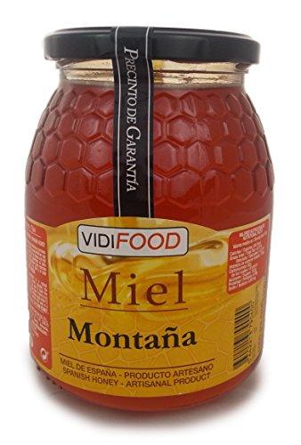 Berg Roher Honig - 1kg - In Spanien gesammelt - Feinste Qualität, Hausgemacht & 100% rein - Blumiges Aroma und reicher, süßer Geschmack - Große Vielfalt an leckeren Geschmäckern