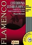 12 ESTUDIOS PARA GUITARRA FLAMENCA (Nivel Superior) (Libro de Partituras + CD) / Twelve Studies For Flamenco Guitar (Advanced Level) (Score Book + CD) ... Serie Didáctica / Instructional Series)