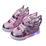 Zapatillas de deporte para niña con luces LED intermitentes, zapatillas para niños, zapatillas de deporte para niños y bebés, zapatillas de gimnasia antideslizantes, unisex, Rosa., 26