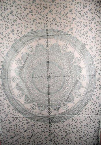 traditionnel Jaipur Mandala Argent Ombre Sticker mural D?cor mural, indien, hippie tapisseries, Bohemian Mur ? suspendre, Gypsy Dortoir d?cors, Boho, d?coration murale, taille 76,2?x 101,6?cm, Bonne Chance Poster