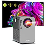 Portable Projector - Artlii Play Android TV 9.0 Smart WiFi Bluetooth Projector Support 4K, ±45°4D Keystone Correction, HiFi Dolby Stereo, Home Theater Projector Works with Netflix, Prime Video