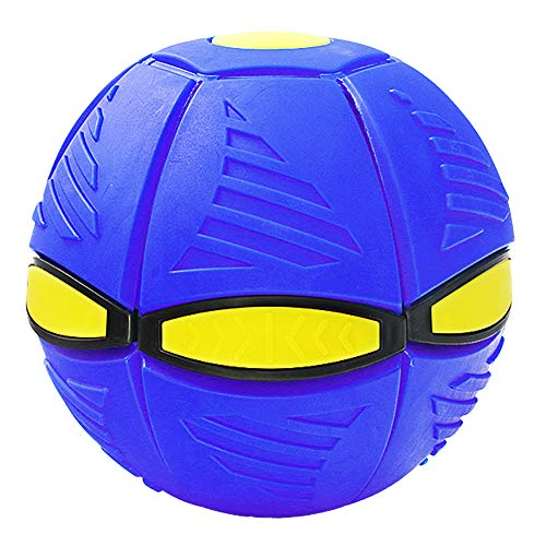 ZoneYan UFO Ball, Bola Ovni para Niños, Bola Deformación Mágica, Bola Platillo Volador, Bola Deformación Juguete, Pelota UFO, Bola Ventilación Mágica, Juguete Bola Frisbee (Azul)