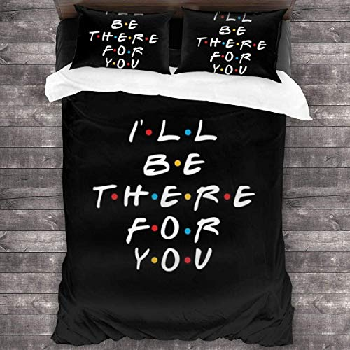 LZMM Fri-en-dS TV Show I'll Be There for You 3-Piece Bedding Set 86'' x70 Quilt Set Twin Size Soft Duvet Cover Set with 1 Quilt Cover 2 Pillowcases for Boys Girls