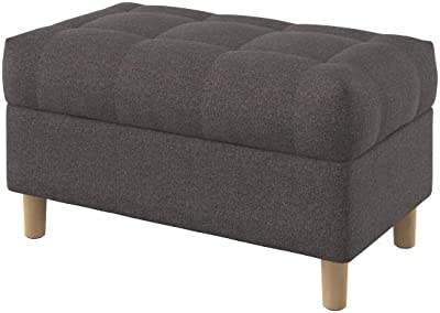 Pleasing Amazon Com Homepop Linen Button Tufted Storage Bench With Short Links Chair Design For Home Short Linksinfo