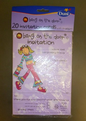 SET OF 3 - 60 'Bang On The Door' Girls Party Invitations With Envelopes [Toy]