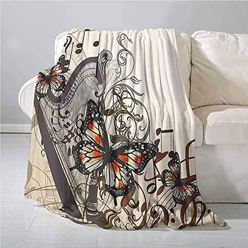 mallcentral-EU Schmetterlinge Dekoration Outdoor Decke Harfe Ornament und Schmetterlinge Klassisches Musikinstrument Konzert Thema Decke