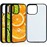 4 Pieces Sublimation Blanks Phone Case Covers Compatible with iPhone 12 Pro Max, 6.7 Inch Blank Printable Rubber Phone Case for Heat Press DIY Protective Shockproof Slim Case