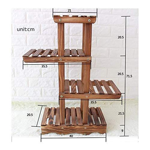 SXYULQQZ Kleine Houten Plant Display Ladder | Plantenrek met 4 lagen voor binnen en buiten 15.7x8.1x28.1in