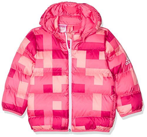 adidas Mädchen Baby Faux Jacke, Bahia Pink S14/Bold Pink/Ray Pink, 98