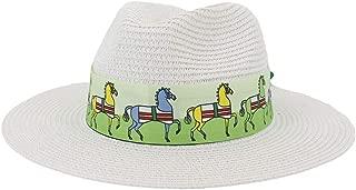 SHENTIANWEI Women Men Straw Sun Hat Summer Lady Floppy Hat Wheat Straw Sunbonnet Beach Hat Size 56-58CM