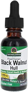 Nature's Answer Black Walnut Hull Extract Alcohol Free 1 Fluid Ounce | Natural Cleanser | Promotes Overall Wellbeing
