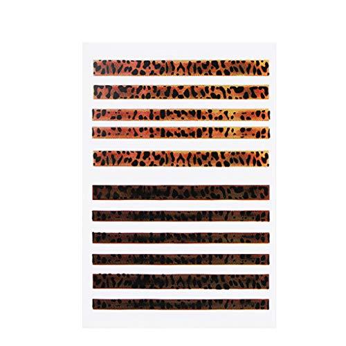 Nagelpflaster Leopard ManiküRe Sticker 3D Stereo Matte Nagelsticker Professional Nail Art Tips Diy Dekoration Extension Stickers Künstliche Fingernagel Modellage Nagel Aufkleber