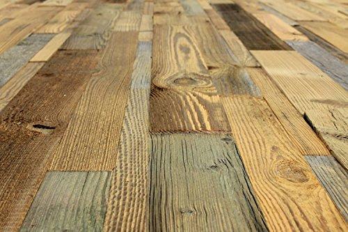 wodewa Wandverkleidung aus Holz Altholz sonnenverbrannt 1m² Echtholz Wandpaneele Holzwand - 7