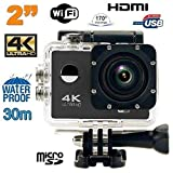 Caméra sport 4k étanche Slow Motion 16MP grand angle 170° Wi-Fi noir