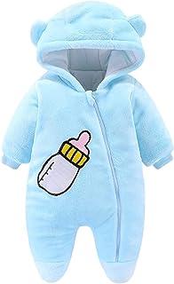 طفل رضيع الفتيات الصبي زيبر رومبير الرضع رشاقته مقنع بذلة القدم بذلة (Color : Blue, Size : 0-3 Months)
