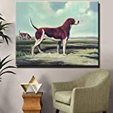 N / A Pintura sin Marco Animal Shepherd Office Picture decoración Moderna Pintura al óleo Lienzo Arte de la Pared Pintura Living roomZGQ8401 20x26cm