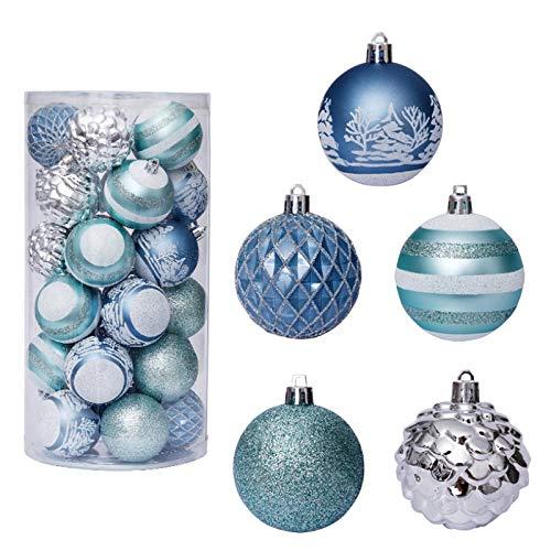 Camisin Christmas Ball Box Set Available Holiday Christmas Tree Ornament Decorations Christmas Decorations Bronze 30Pcs