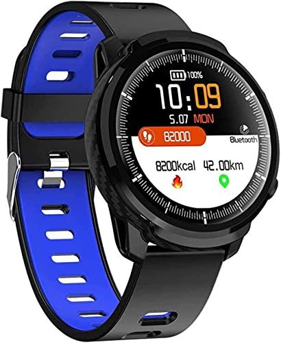 Panduo YLB Smart Watch 1 3 pulgadas de alta definición de pantalla grande IP68 impermeable multi-deporte pulsera inteligente (color: negro azul sílice)