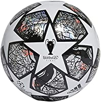 adidas Fin ist TRN Balón de Fútbol, Men's, White/Multicolor/Black/Solar Red, 4