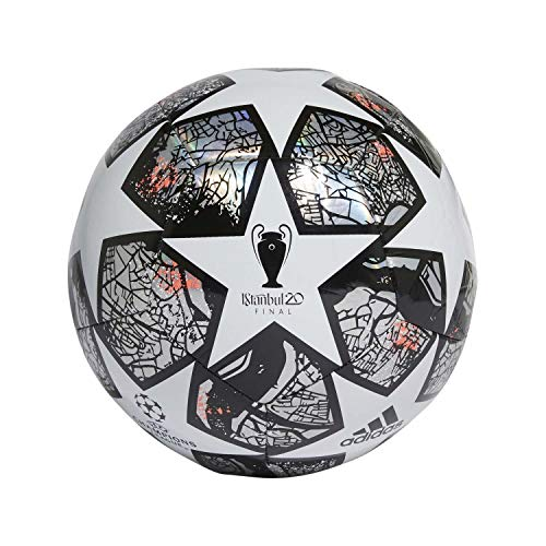 adidas Fin ist TRN Balón de Fútbol, Men's, White/Multicolor/Black/Solar Red, 4