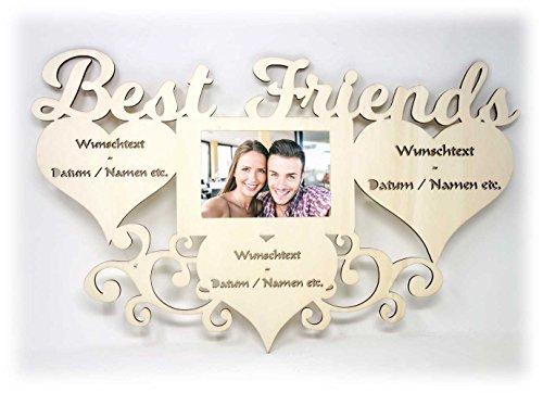Beste Freundin Freund Geschenk persönlich mit Namen zum Geburtstag I Ideen personalisierbar Best Friends Foto Bilderrahmen 10 x 15 cm