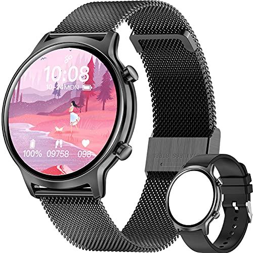 ieverda Smartwatch Donna, Smartwatch Orologio Fitness Impermeabile IP68 Smart Watch Cardiofrequenzimetro da Polso Contapassi Smartband Activity Tracker Bambini Cronometro per Android iOS