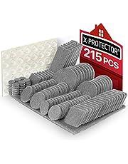 Meubilair Pads 215 stuks X-PROTECTOR Vilt Meubilair Pads - Meubilair Vilt Pad -Premium Meubilair Vilt Pads - Stoel Been vloerbeschermers Vilten Meubilair Voeten +64 Rubber Bumpers Pads