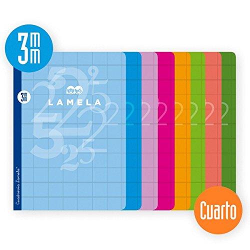 Cuaderno Lamela 1/4 50 hojas Cuadricula 3mm