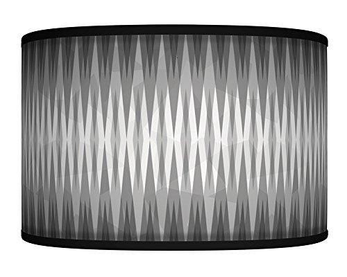 40cm (40,6cm) Spikes carboncini Grey retro Geometric Handmade Giclee Style stampato tessuto paralume per lampada da terra o da soffitto paralume 356