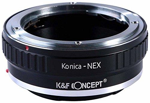 K&F Concept Konica AR Adaptador ∙Compatible con Cámara Sony E-Mount (NEX/Alpha) ∙ Adaptador para Lente Konica AR
