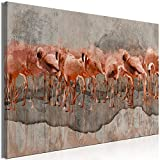 murando Cuadro en Lienzo Animales 90x60 cm Impresión de 1 Pieza Material Tejido no Tejido Impresión Artística Imagen Gráfica Decoracion de Pared - Flamingo Tropical Aves como Pintado g-A-0349-b-a