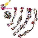 Seil für Aggressive Kauen,Tau Hund Spielzeug, Natürlicher Baumwolle Hundeseile,Kauspielzeug Interaktives Spielzeug Set,Hundespielzeug Seil,Hund Seil Spielzeug Set für Welpe Kleine Mittlere Hunde