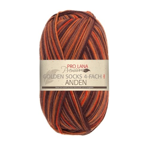 PRO LANA Sockenwolle Anden 4Fädig - Premium - Farbe: 1013-100 g/ca. 425 m Wolle