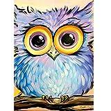 Vfvozr Pintura Digital para Adultos Kit de búho Pintura al óleo en Lienzo acrílico para Principiantes y niños Pinceles y Pinturas acrílicas 40x50cm Sin Marco