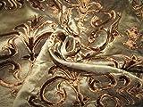 TheFabricFactory Seidenorganza mit Stickerei aus Samt,