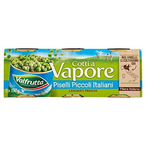 Valfrutta Piselli Piccoli Cotti a Vapore, Confezione da 3 x...
