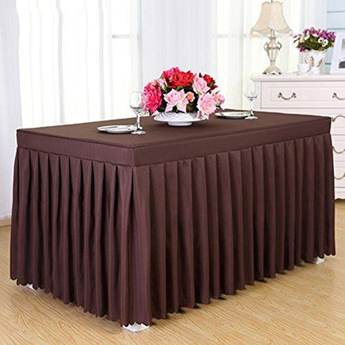 GBBD Tischdecken Konferenz Tischdecke Kaltes Speisetisch Rock Rock Sign In Schreibtisch Rock Ausstellung Aktivitäten Tischdecke Weiß Tischdecke Tisch Sets Tischtuch (Farbe : A, größe : 3#)