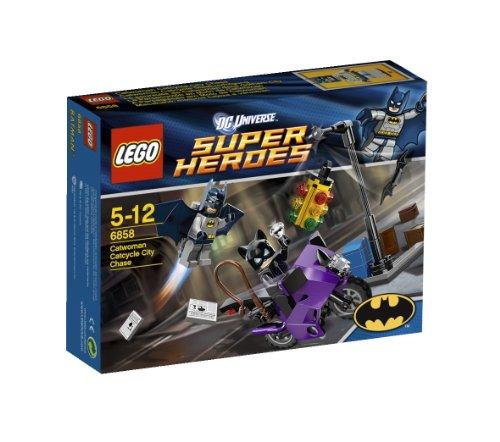 LEGO Superheldenfiguren Super Heroes 6858 Stadt auf der Jagd nach Catwoman