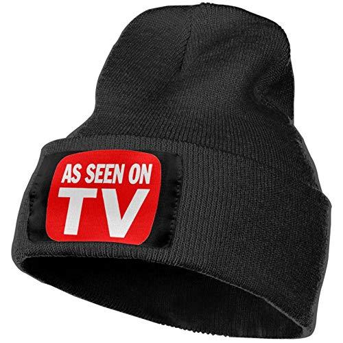 As Seen On TV Unisex Knit Hat Cap Warm Winter Stylish Stretchy Soft Multifunctional Headwear Black