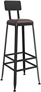 ZHJBD Furniture Stool Counter Height Bar Stools Metal Vintage Style Wrought Iron Barstool Bar Chair High Stool Can Used Kitchen Dining Room Counter Pub  Size cm
