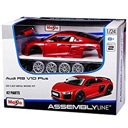 Opening doors and hood or other panel Custom and performance detail parts Die-cast metal body with plastic parts Screwdriver included No glue or paint needed