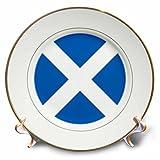 3dRose CP 158423_ 1Flagge of Scotland Blau mit Weiß Saint Andrews Kreuz Saltire Schotten UK United Kingdom Porzellan Teller, 20,3cm