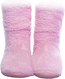 Women's Slipper Sock Coral Velvet Indoor Spring-Autumn Super Soft Warm Cozy Fuzzy Lined Booties Slippers