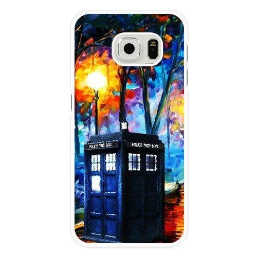 Funda para Samsung Galaxy S6, caja de llamada personalizada de Doctor Who, carcasa rígida blanca para Samsung Galaxy S6, funda de Doctor Who Galaxy S6 (no apta para Galaxy S6 Edge)