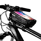 [page_title]-Warxin Fahrrad Rahmentasche Wasserdicht, Empfindlicher TPU Touchschirm Farhrradlenkertasche, Oberrohrtasche Handytasche Geeignet für iPhone 8 Plus/X/XR/11, Samsung Huawei bis zu 7.0 Zoll Smartphone