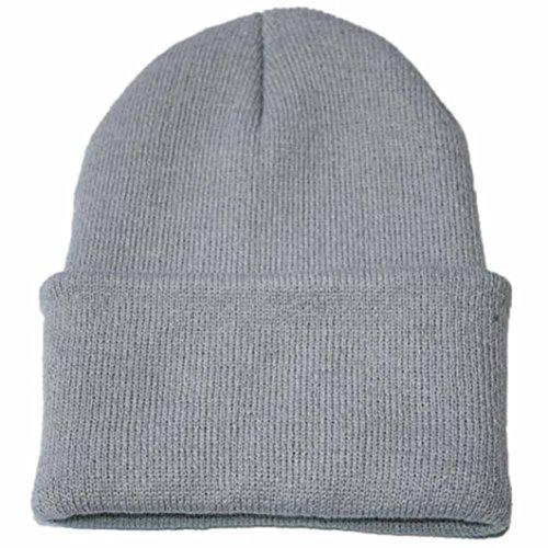 Fulltime® Bonnet à Tricoter Bonnet Hip hop Bonnet de Ski d'hiver (Gris)