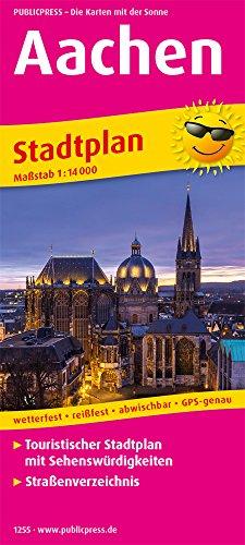 Aachen: Touristischer Stadtplan mit Sehenswürdigkeiten und Straßenverzeichnis. 1:14000 (Stadtplan: SP)