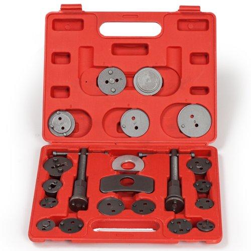 TecTake 22 TLG. Bremskolbenrücksteller Set Rückstellsatz Werkzeug mit Links- und rechtsdrehender Gewindespindel